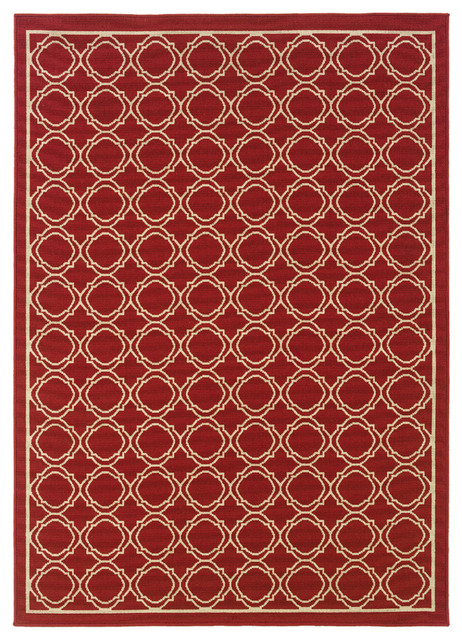 Oriental Weavers of America Jaxson Rectangular Red Rug
