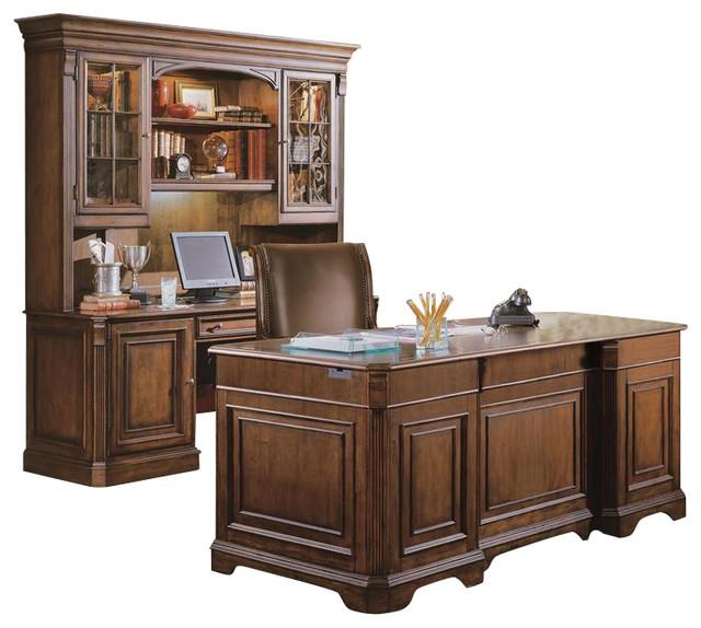Hooker Furniture Brookhaven Armoire Desk Reviews: Hooker Furniture Brookhaven Executive Desk, Wood Top