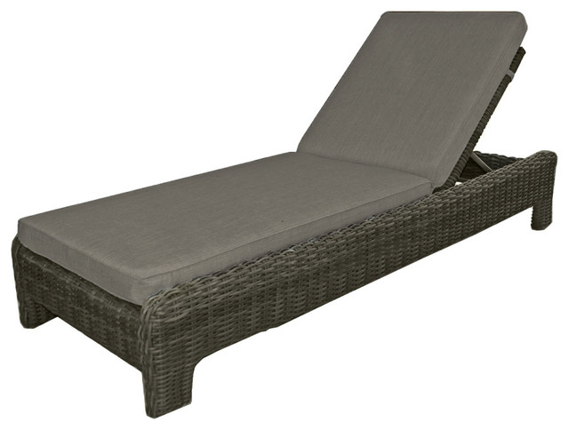 Napa chaise lounge beach style outdoor chaise lounges for Beach chaise longue