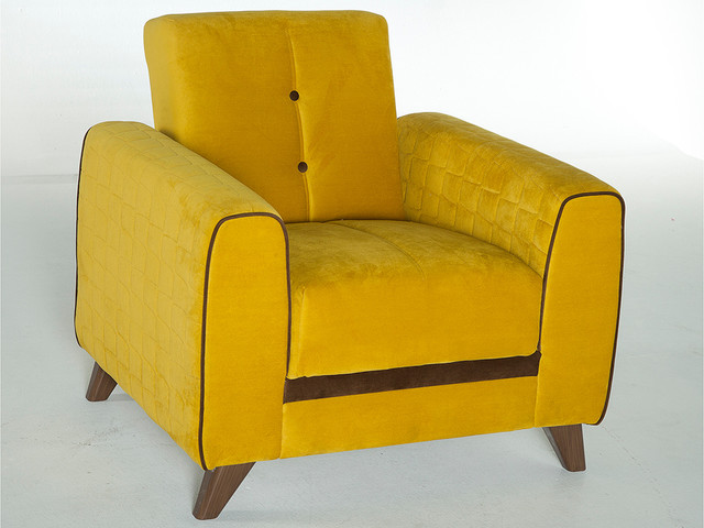 Fabio Armchair In Yellow Modern Armchairs And Accent