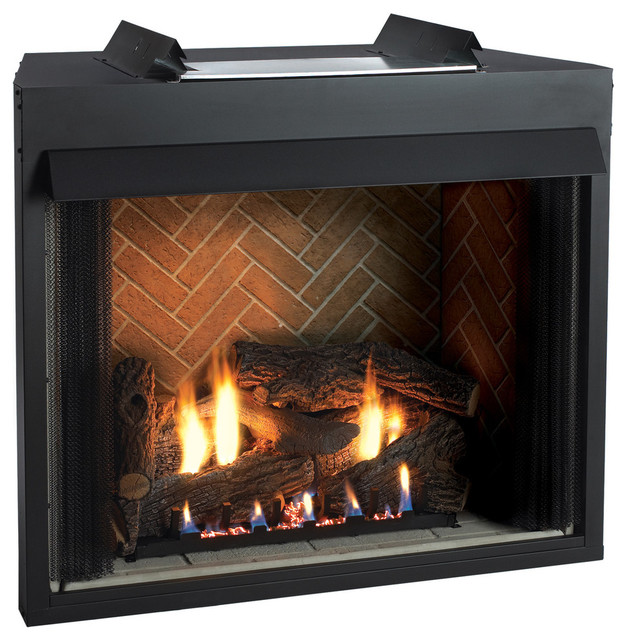 Select 32 vf f face firebox rs logset and mv slope glaze burner lp moderne chemin e par - Cheminees modernes ...