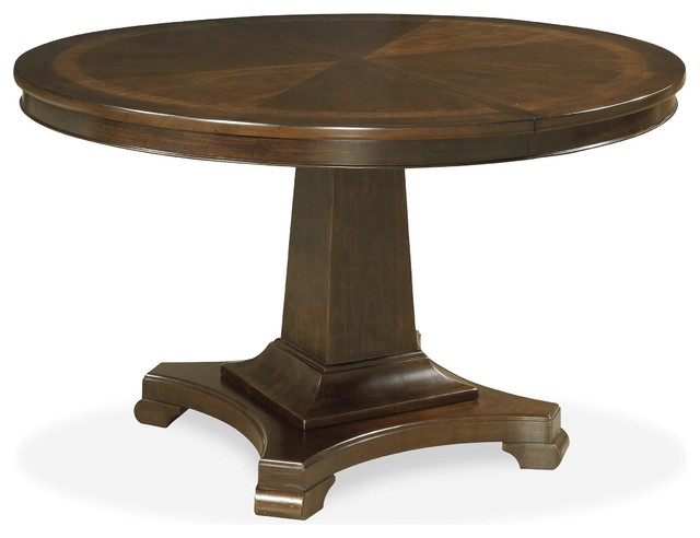 Round Table Bedroom Furniture: Universal Proximity Round Pedestal Dining Table, Sumatra