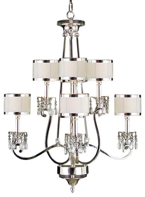 john richard eight light chandelier silver transitional. Black Bedroom Furniture Sets. Home Design Ideas