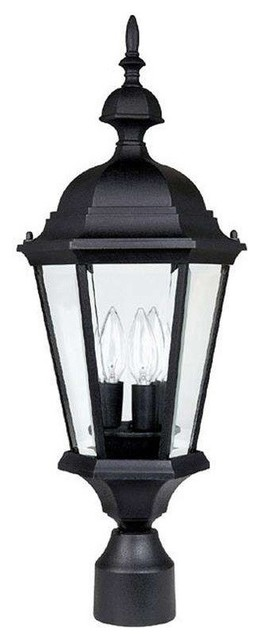 Capital lighting 9725bk carriage house outdoor post light traditional post lights by Exterior carriage house lights
