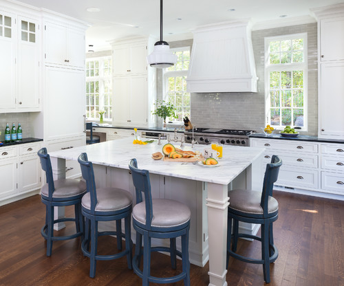Two tone kitchen countertops ideas white cabinets for Kitchen ideas st johns woking