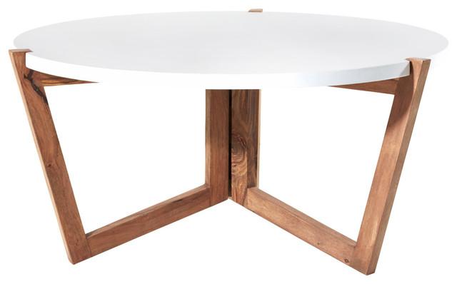 Table basse en bois de palissandre blanche et grise 80 Niels  Scandinavian