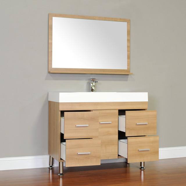 Alya Bath At 8041 Lo 39 Single Modern Bathroom Vanity Light Oak Modern Bathroom Vanities