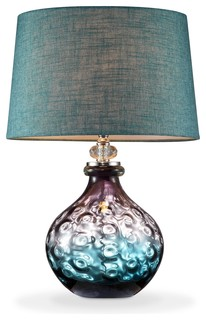 Mojave Glass Table Lamp Purple And Turquoise