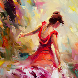 Dancer Artwork Original Oil Painting Traditional