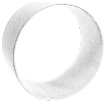 """Wool Felt Circle Shelf, 12x6"""" White - Contemporary - Display And Wall Shelves - by The Felt Store"""