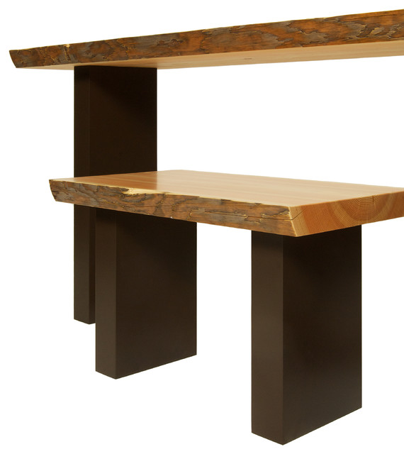 Live Edge Bench And Console Eclectic Indoor Benches Calgary By Chinnick Co