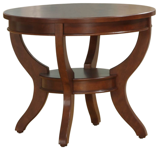 Homelegance Avalon Round End Table In Cherry Traditional