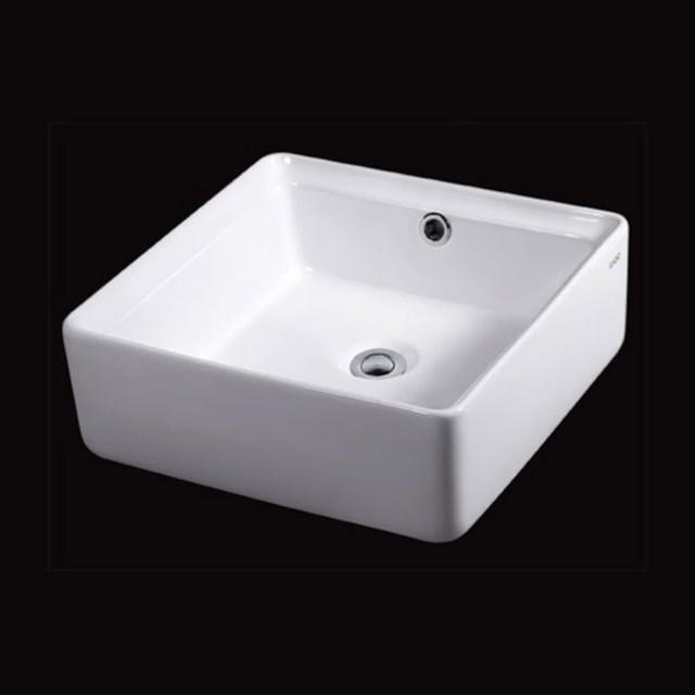 Eago 15 in. Square Ceramic Above Mount Vessel Bathroom Sink Multicolor ...