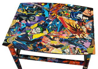 Decoupaged Comic Book Table by Balooga - Eclectic - Side Tables And End Tables - by Etsy