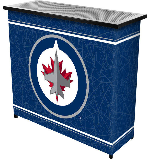 Nhl Winnipeg Jets 2 Shelf Portable Bar With Case Contemporary Drinks Cabinets By Dcg Wholesale