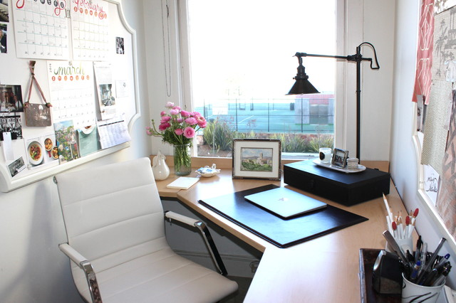 Small Feminine Home Office Contemporary San Francisco