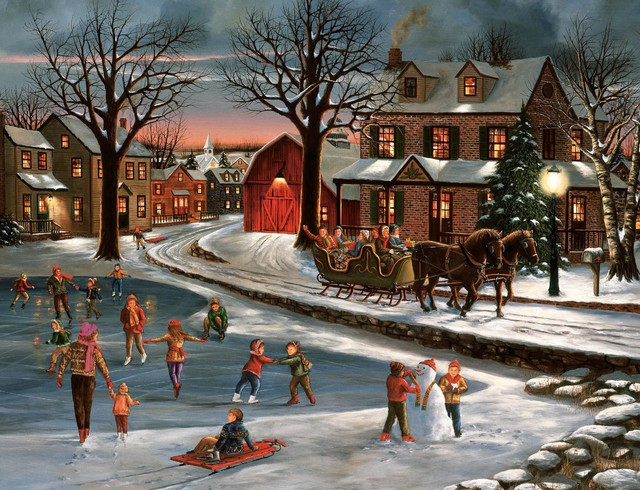 christmas painting collection traditional artwork
