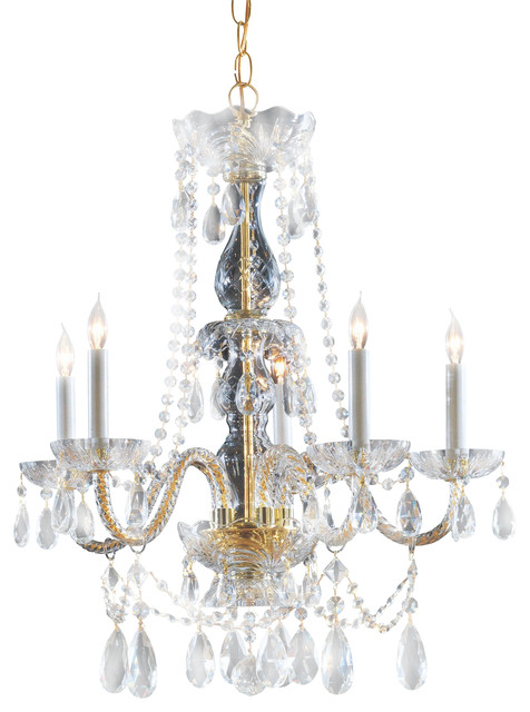 Crystorama 1125 pb cl saq traditional crystal chandelier traditional chandeliers - Traditional crystal chandeliers ...