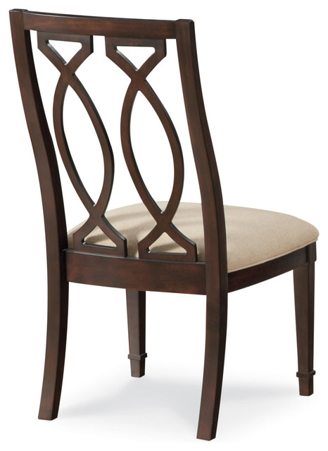 A r t furniture intrigue wood back side chair set of 2 for A r t dining chairs