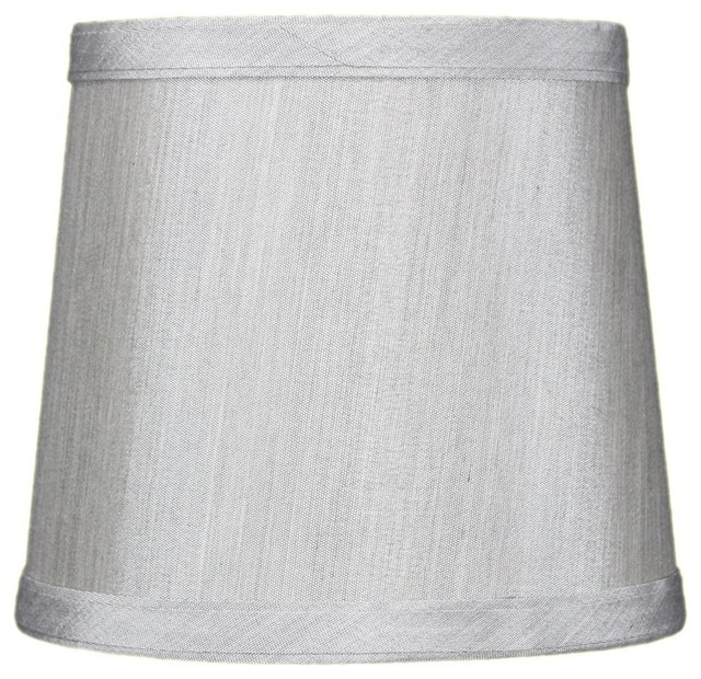5x6x5 Grey Drum Lampshade Contemporary Lamp Shades