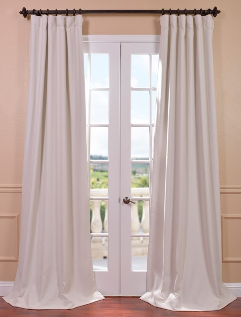 Cottage White Bellino Blackout Curtain Contemporary Curtains San Francisco By Half Price