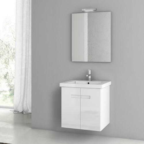 Two door vanity set available in two finishes for Bathroom vanities washington ave philadelphia