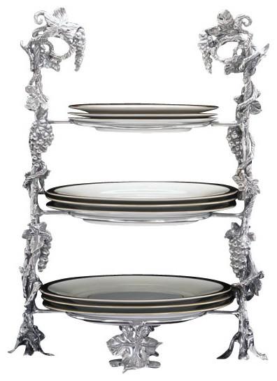grape buffet plate caddy - traditional - serveware