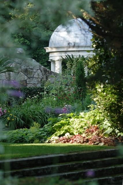 Limestone Garden Folly Traditional Bridgeport by
