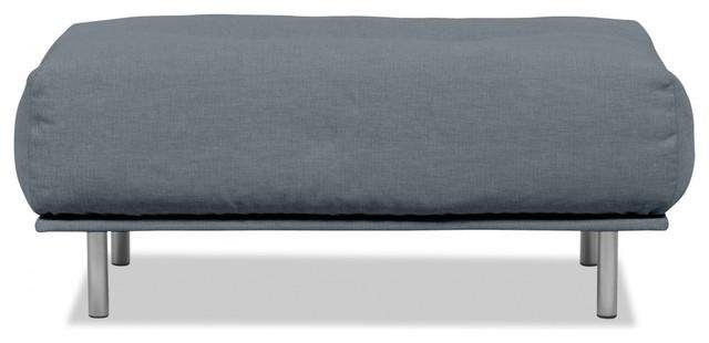 ottomane liberty grau moderno poggiapiedi di. Black Bedroom Furniture Sets. Home Design Ideas
