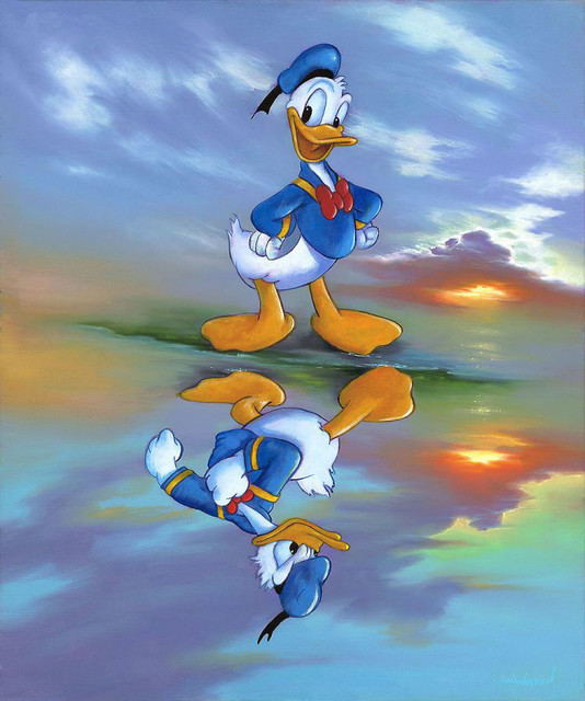 Disney Fine Art Two Sides of Donald by Jim Warren - Transitional - Artwork - by Biggs Ltd.