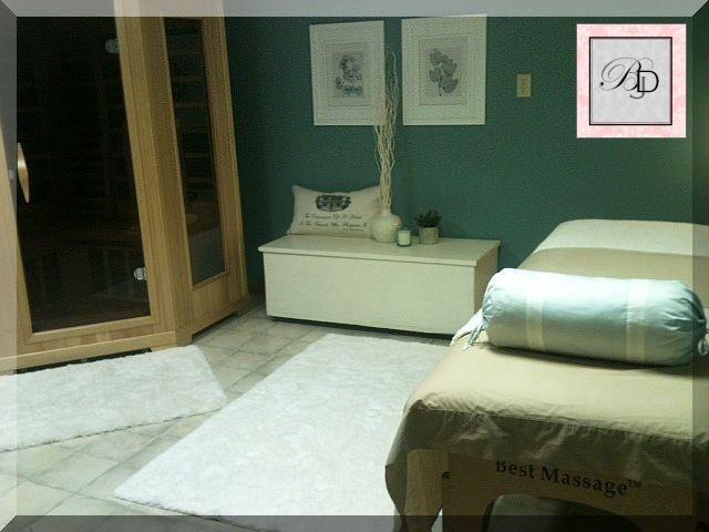 Massage room with sauna for Massage room interior design ideas