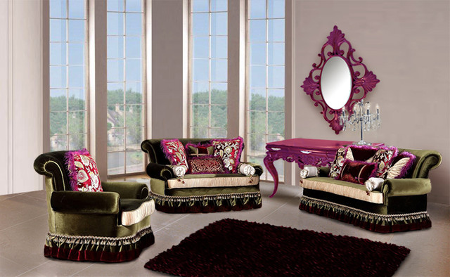 Karina luxury living room sofa set modern living for Contemporary lifestyle furniture dallas