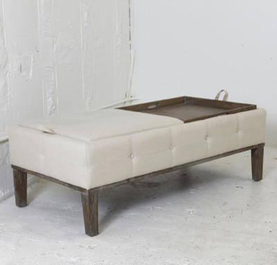 upholstered storage ottoman with tray 2