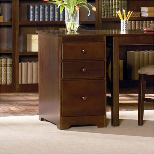 Drawer File Cabinet in Antique Walnut - Traditional - Filing Cabinets - new york - by the ...