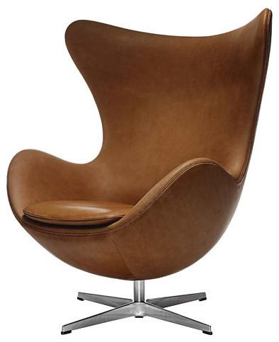 fritz hansen egg chair leather modern sessel von utility. Black Bedroom Furniture Sets. Home Design Ideas