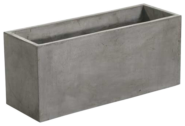 Newport rectangular concrete planters sold as set of 2 Concrete planters