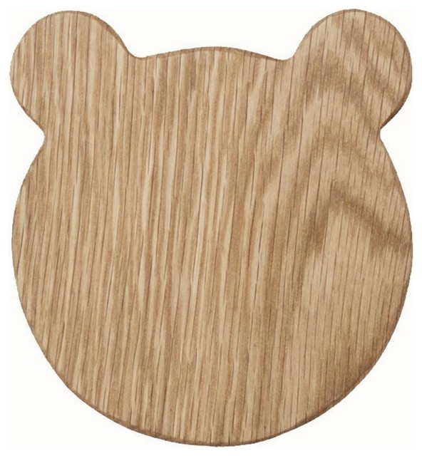 Bear Oak Chopping Serving Board Contemporary