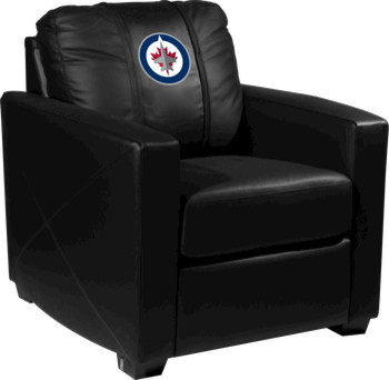 Winnipeg Jets Nhl Xcalibur Leather Arm Chair Traditional Game Room And Bar Furniture By