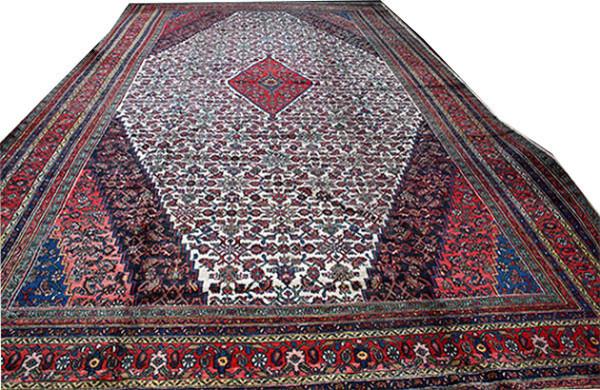 Consigned 11 X119 Palace Size Persian Bibikabad Rug