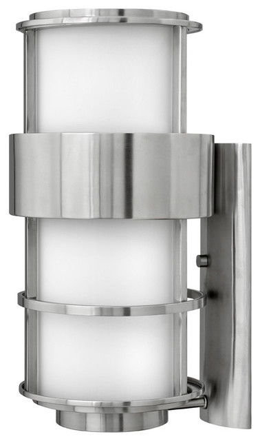 Saturn 1 Light Outdoor Wall Lights in Stainless Steel