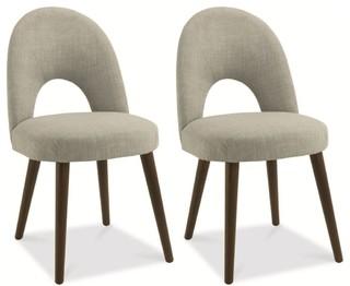 bentley designs oslo walnut dining chair linen fabric