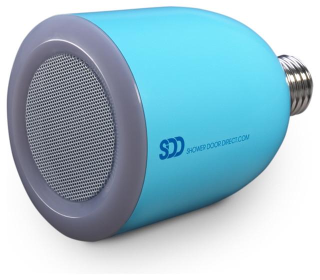 Bulbtunes led light bulb with bluetooth speaker modern - Bluetooth speaker bathroom light ...