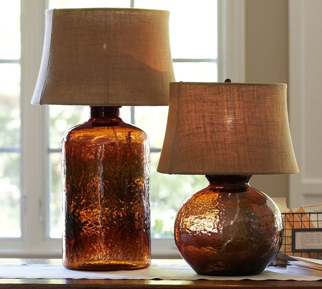 Clift Glass Table Lamp Base Espresso Contemporary