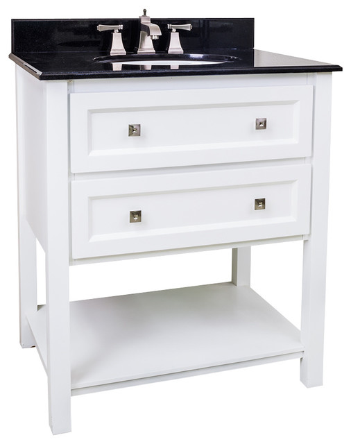 Lyn Design VAN066 T Black Granite Top Traditional Bathroom Vanities And