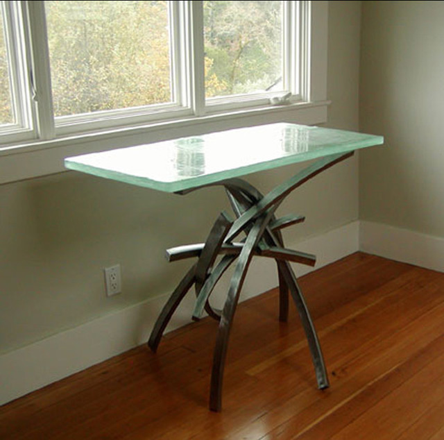 Metal and glass side table side tables and end tables other metro