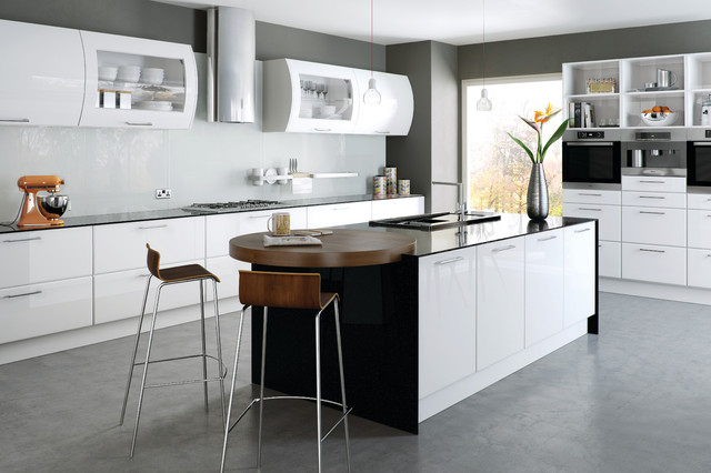 High Gloss White Kitchens Modern Kitchen Cabinets Other By Do