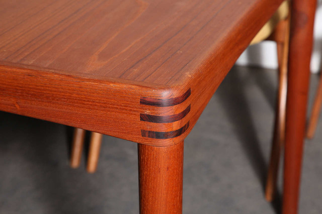 danish teak dining table by hw klein modern dining tables new