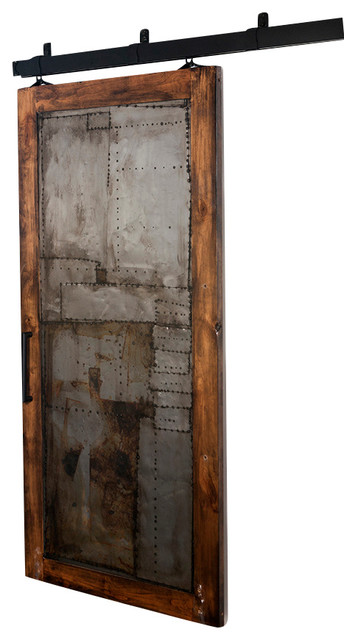 Steampunk Scrap Metal Barn Door Rustic Interior Doors