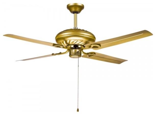 Gold Ceiling Fan : Modern gold ceiling fans light for living room
