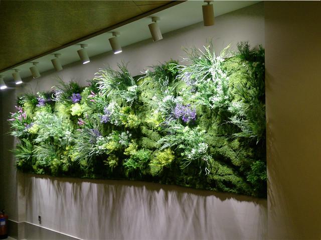 Jard n vertical muros frescos en las oficinas de la for Jardin vertical oficina